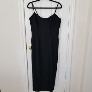Liz Claiborne Sheath Dress Sz 6 Black Sleeveless